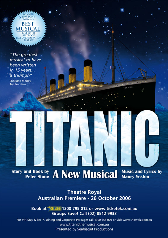 affiche Titanic The Musical